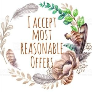 ~Reasonable offers welcomed~